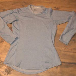 Women's Patagonia light blue long sleeve